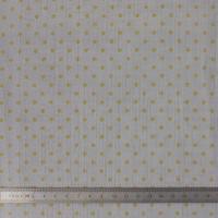 Crépon FDS gris à pois dorés 20 x 135 cm