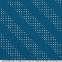 COUPON Tissu Dotties pois argentés fond bleu 1m x 110 cm