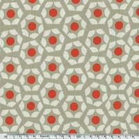 Tissu Moonlit hexagones corail 20 x 110 cm