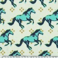 Tissu Mustang chevaux 20 x 110 cm