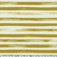 DERNIER COUPON Tissu Zephir rayures coloris moutarde 1m75 x 110 cm