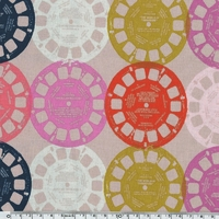 Tissu Playful fond rose 20 x 110 cm