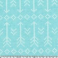 Jersey flèches fond aqua 20 x 140 cm