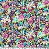 Liberty Beach Lycra Elysian fond violet 20 cm x 140 cm