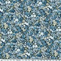Liberty Beach Lycra Chive bleu 20 cm x 140 cm