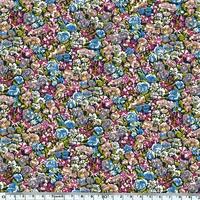Liberty Beach Lycra Chive prune et bleu 20 cm x 140 cm