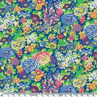 Liberty Beach Polyamide Elysian fond bleu 20 cm x 140 cm