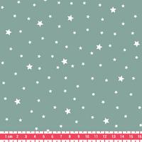 Tissu Première Etoile coloris Menthe Glacée 20 x 140 cm