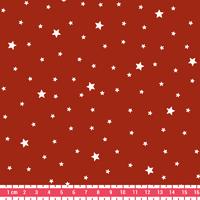 COUPON tissu Première étoile imprimé coloris Homard 1m x 140 cm