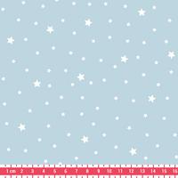 Tissu Première Etoile coloris Glaçon 20 x 140 cm