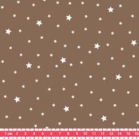 Tissu Première Etoile coloris Noix 20 x 140 cm