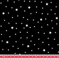 Tissu Première Etoile coloris Réglisse 20 x 140 cm