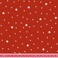 Coupon de tissu Première Etoile IMPRIME coloris paprika 1m x 140 cm