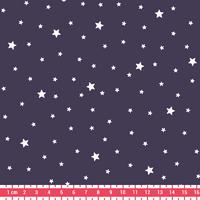 Tissu Première Etoile coloris Prune 20 x 140 cm