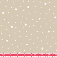 Tissu Première Etoile coloris Meringue 20 x 140 cm