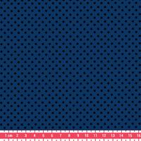 Tissu Première Etoile mini star encre noire coloris Blueberry 20 x 140 cm