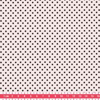 Tissu Première Etoile mini star encre noire coloris Nude 20 x 140 cm
