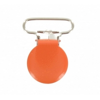 Attache-bretelle ou attache-tétine orange 25mm