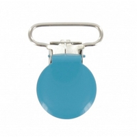 Attache-bretelle ou attache-tétine turquoise 25mm