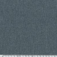 Bord-côte milleraies gris chiné foncé 20 x 72 cm
