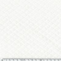 Jersey matelassé blanc 20 x 150 cm