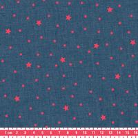 Tissu Première Etoile FLUO coloris denim 20 x 140 cm