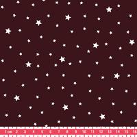 Coupon de tissu Première étoile imprimé Aubergine 1m x 140 cm