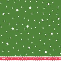 COUPON tissu Première étoile imprimé coloris Basilic 1m x 140 cm