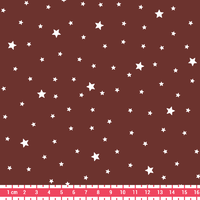 Tissu Première Etoile coloris Lie de Vin 20 x 140 cm