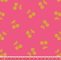 COUPON de Cherries gold, poly/coton coloris pralin 1m60 x 140 cm