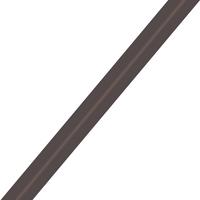 Biais Première Etoile uni poivre gris 1m