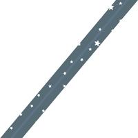 Biais Première Etoile imprimé bleu canard 1m