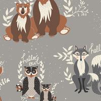 Tissu Hello Bear Oh, Hello Fog 20 x 110 cm