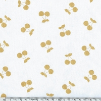 COUPON de jersey Cherries Gold coloris Chantilly 1m60 x 140 cm