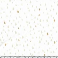 Pluie d'or, jersey coton spandex blanc cassé 20 x 140 cm