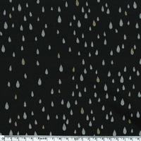 Pluie d'or, sweat léger noir, 20 x 140 cm