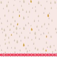 Pluie d'or, poly/coton nude 20 x 140 cm