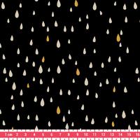 Pluie d'or, poly/coton réglisse 20 x 140 cm