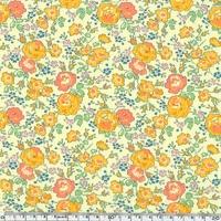 Liberty Félicité jaune corail fond jaune pâle coloris D 20 x 137 cm