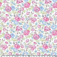 Liberty Félicité rose et bleu coloris B 20 x 137 cm
