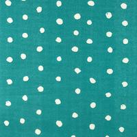 Tissu double-gaze Pois  Pocho fond emeraude 20 x 110 cm