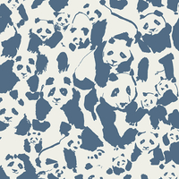 Tissu voile de coton Pandalicious Pandalings Pod Night 20 x 132 cm