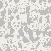 DERNIER COUPON Tissu Pandalicious Pandaling Pod Shadow 1m x 110 cm
