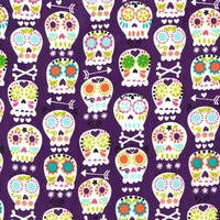Tissu Skulls coloris améthyste 20x110 cm