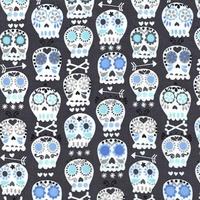 Tissu Skulls coloris charbon 20x110 cm