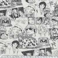Jersey Manga fond beige 20 x 140 cm