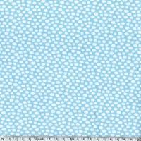 Jersey Cuties nuage fond bleu 20 x 140 cm