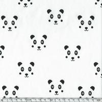 Jersey panda fond blanc cassé 20 x 140 cm