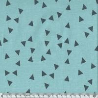 Jersey triangles fond menthe 20 x 140 cm