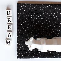 Viscose Drops noir et blanc 20 x 140 cm